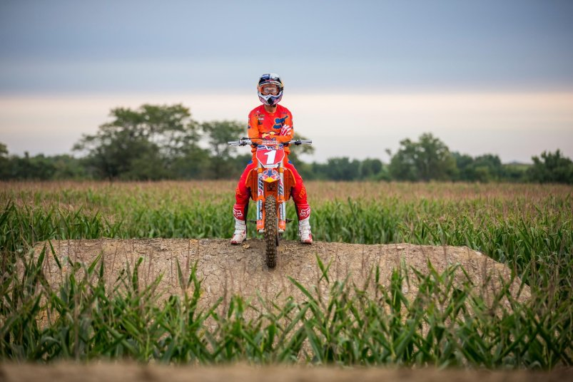 """Ryan Dungey sits atop a jump during filming of """"Homegrown."""""""