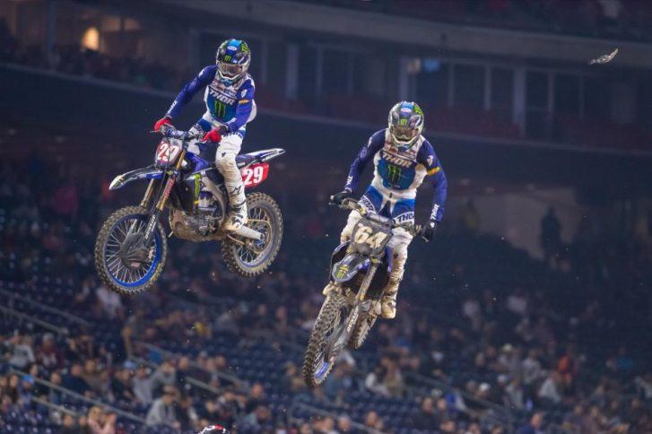 Colt Nichols battled his Yamaha teammate