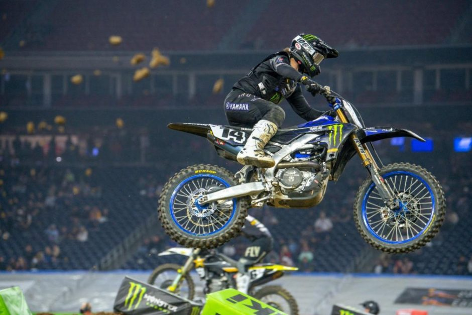 Dylan Ferrandis, in his second 450SX Class race.