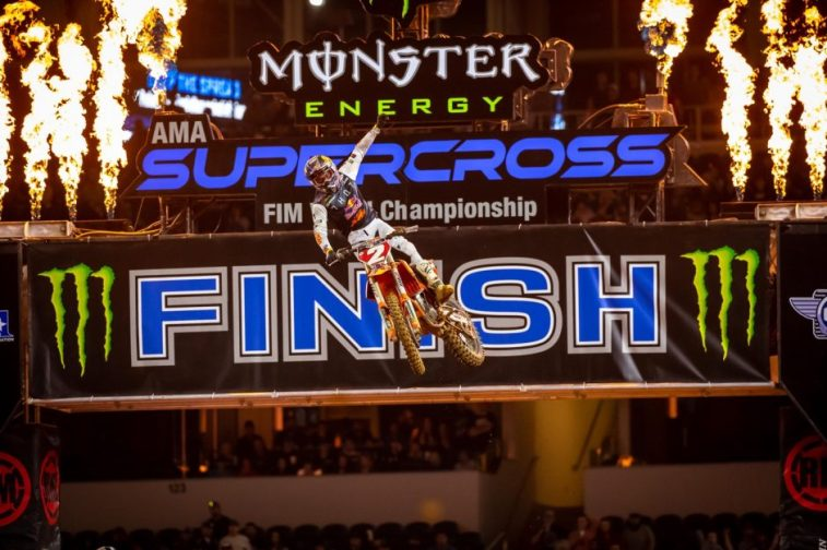 Cooper Webb pushed his way into the lead