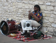 tromme-trompetspiller