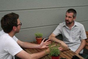 Christoph Fellmann (t.h.) sammen med SPOT On Denmarks projektudvikler Christian Hald Buhl.