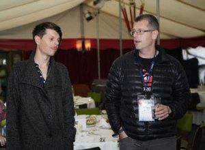 VUT's Lars Potyka (t.v.) og MXDs Thomas Rohde - glade for det dansk-tyske samarbejde.