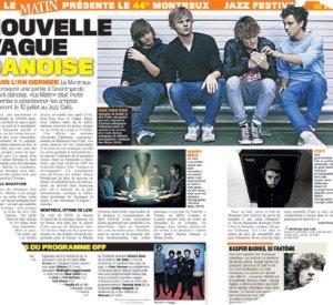 2-sides-artiklen i Le Matin om SPOT og lørdagens koncert.