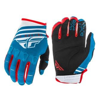 Kinetic K220 Gloves Blue/White/Red