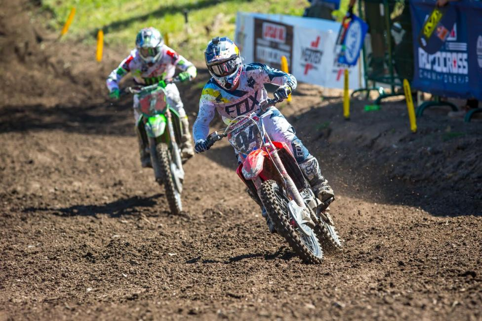 52b52cd2609b57 Ken Roczen led Tomac early in both motos en route to second overall (2-
