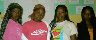 Young girls get support and guidance from Life Bloom Services International
