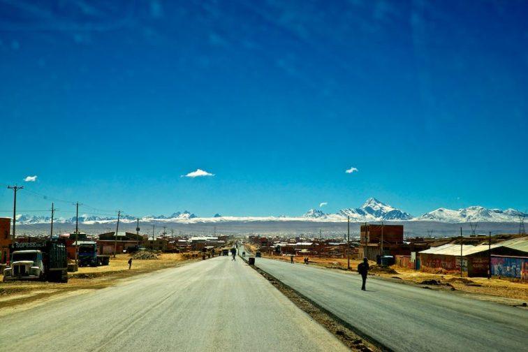 Anfahrt nach El Alto und La Paz