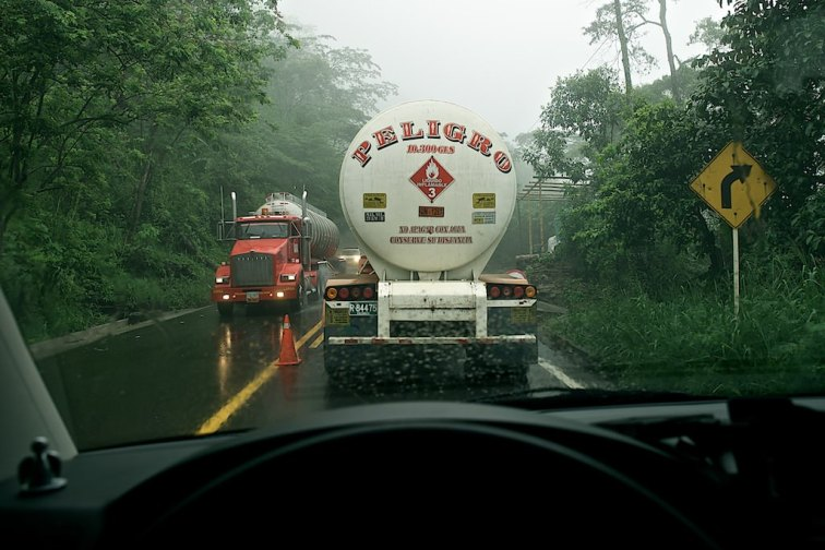 Kolumbiens Straßen sind wirklich........