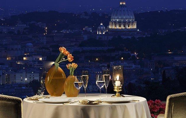 Michelin restaurant: dinner in Rome at La Pergola