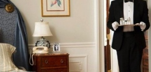 , The butler in the hotel room
