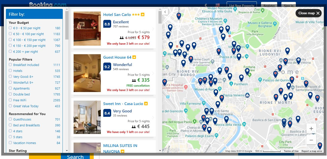 Booking a hotel online: the complete guide of Booking.com