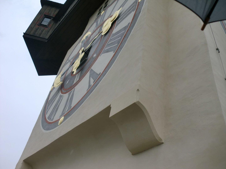 Graz clock tower 2 - Graz: tradition and modernity