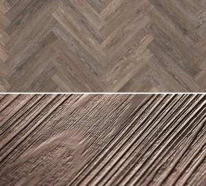 Vinylboden zum kleben im Fischgrät Design Project Floors Fischgrät PW1265HB