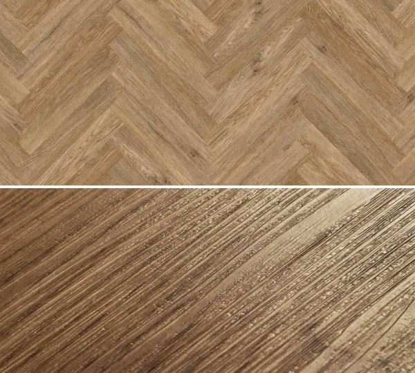 Vinylboden zum kleben im Fischgrät Design Project Floors Fischgrät PW3065HB