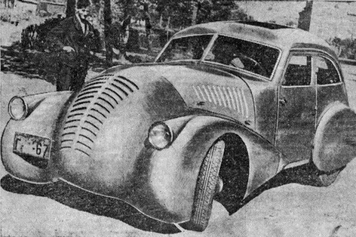 Внешний вид советского автомобиля ГАЗ-А-Аэро