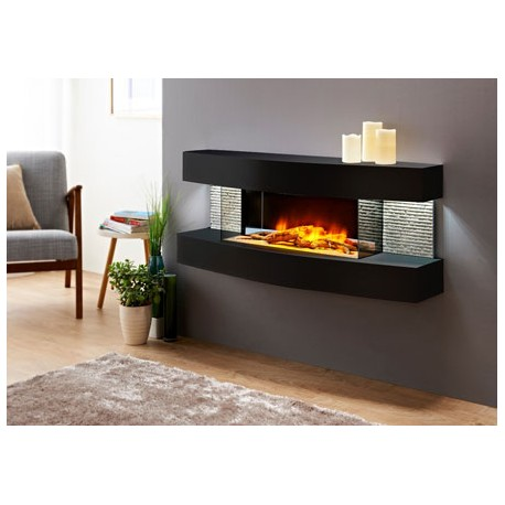 cheminee electrique design lounge noire chemin arte