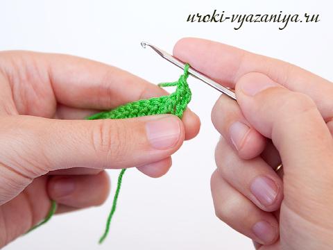 как связать резинку крючком