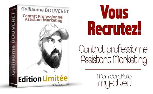 Post LinkedIn Guillaume BOUVERET Assistant Marketing