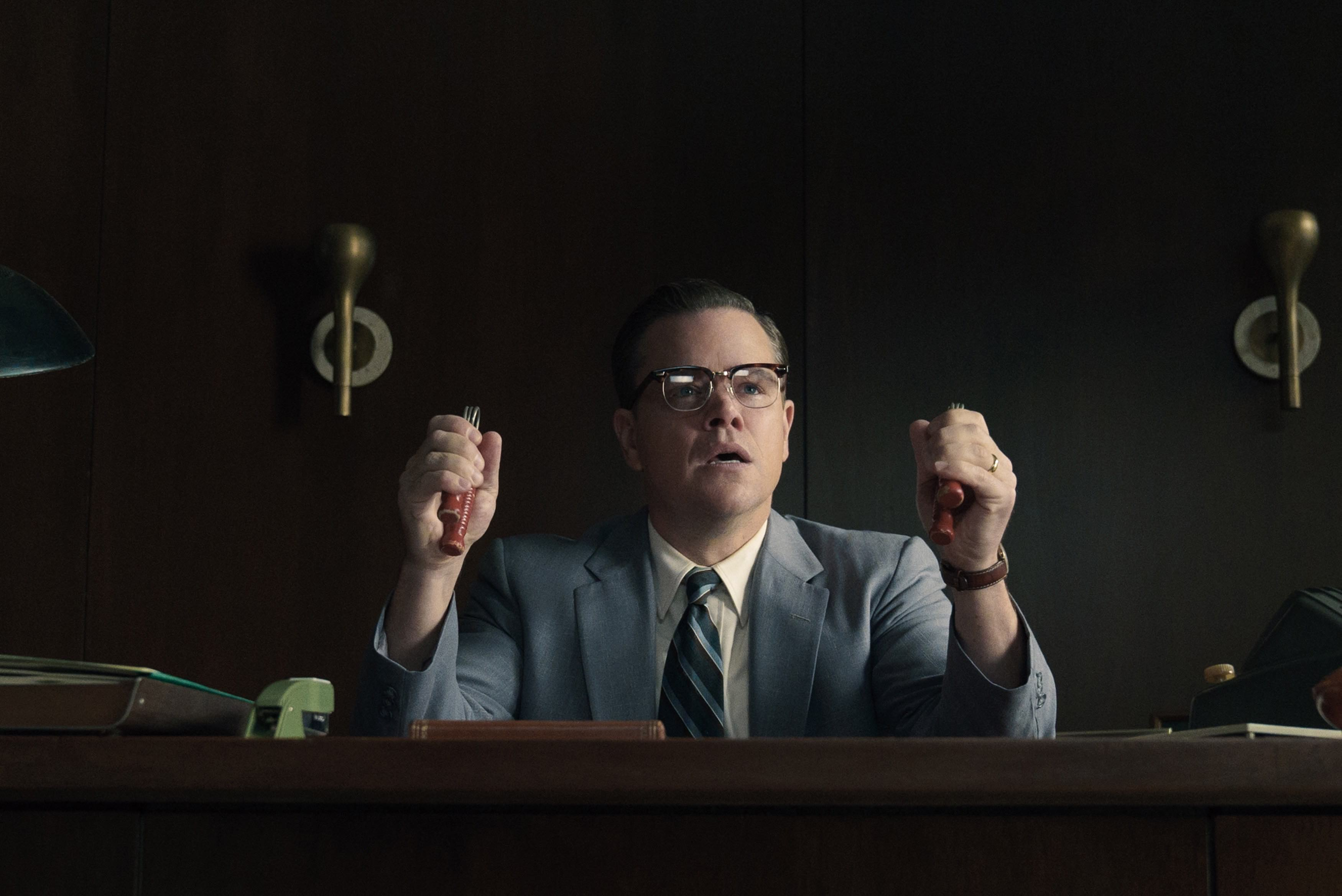 Matt Damon as Gardner in SUBURBICON, from Paramount Pictures and Black Bear Pictures.