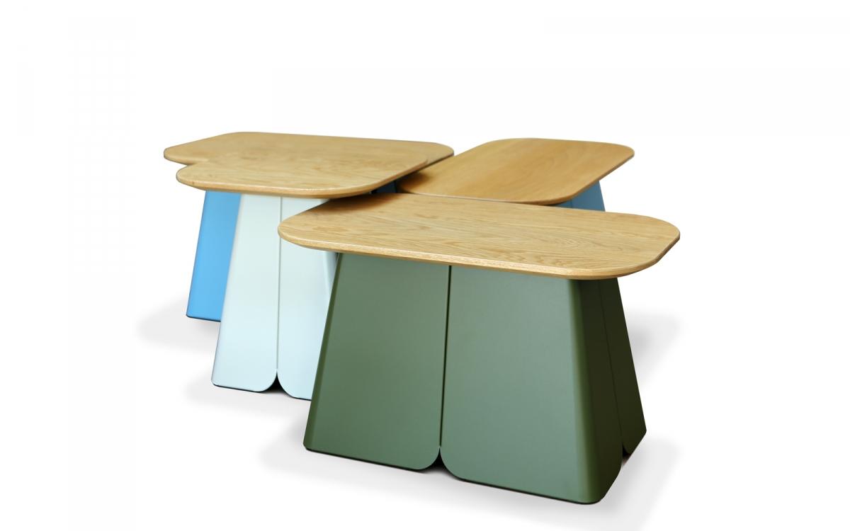 L'alliance du métal et du bois pour cette table basse design by MIIING
