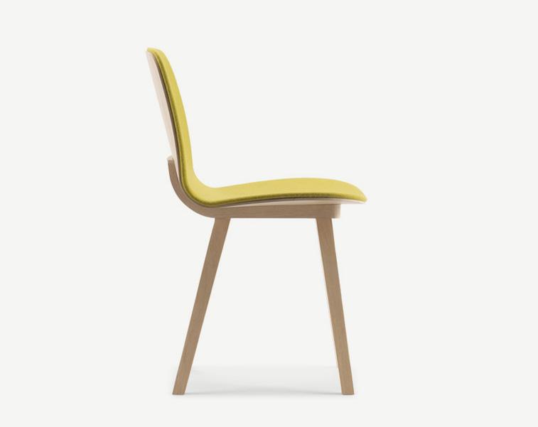 chaise design en bois aux lignes pur es et fabriqu e en france alki. Black Bedroom Furniture Sets. Home Design Ideas
