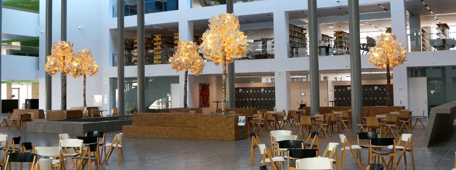 luminaire eco design dans l'université de Copenhague