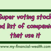 List of companies that use super voting stock