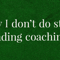 Why I don't do stock trading coaching?