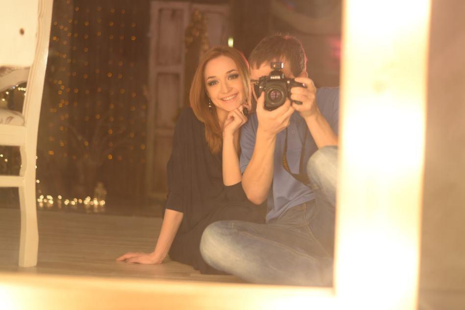Фото модели и фотографа