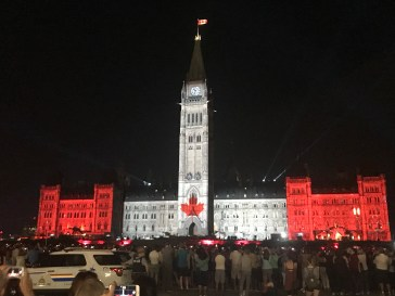 Lightshow on Parliment