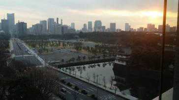 View of Imperial Palace grounds from the conference room where we had the meeting