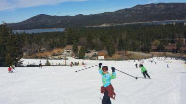Alex skiing at Big Bear