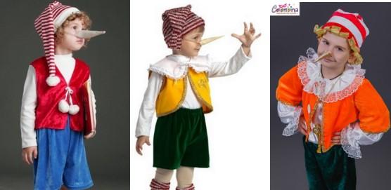 Costume options Pinocchio for boys