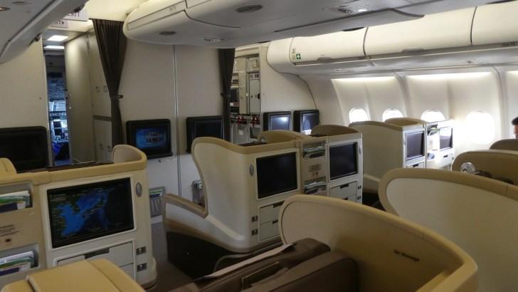 シンガポール航空ビジネスクラス-大阪→シンガポール 座席2