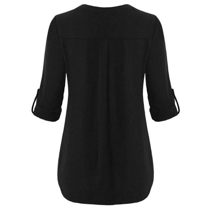Tops Blouses Shirts for Women GirlsWomen Long Sleeve Roll