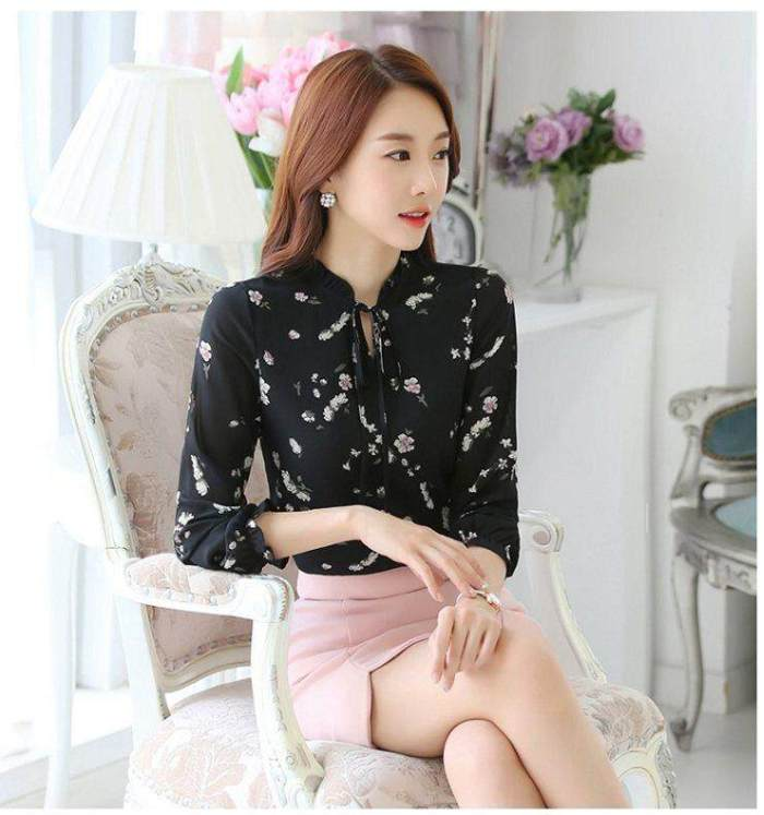 INWPLLR Women's Fashion Tops Blouses Floral Print Shirts