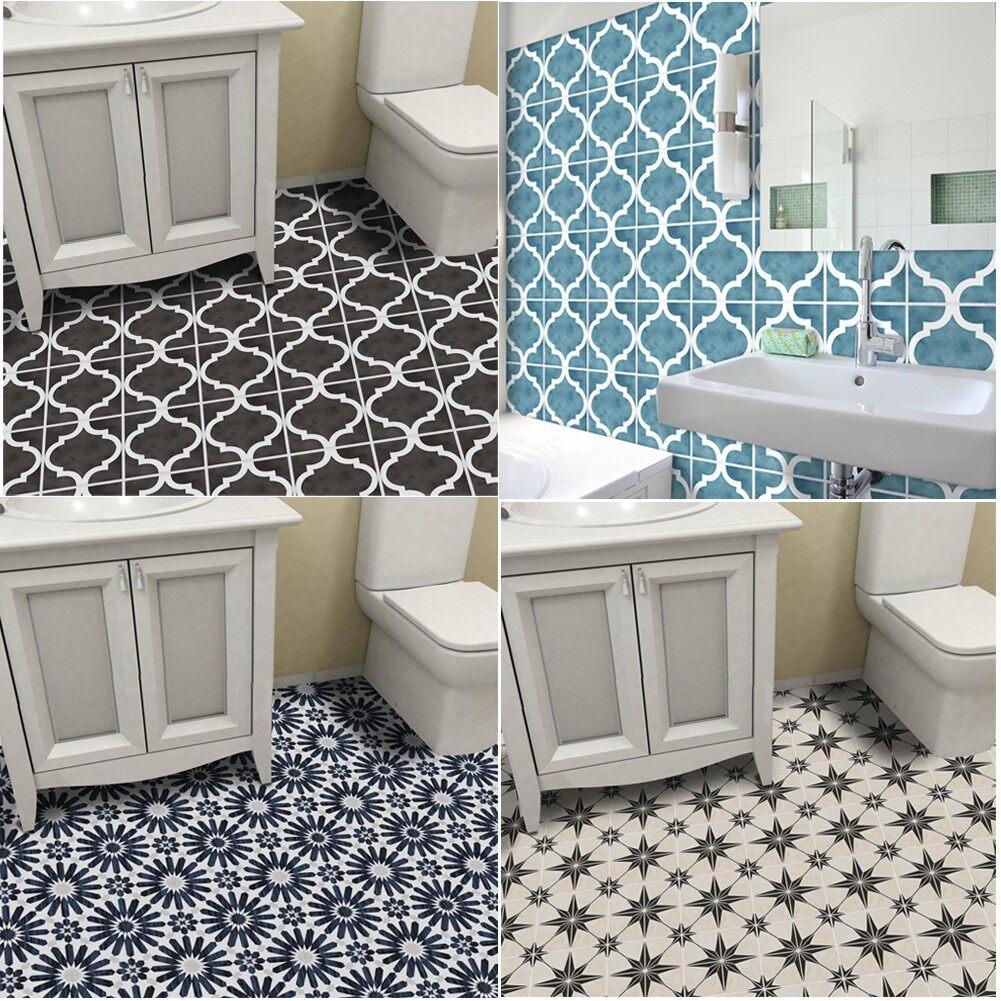 diy bathroom floor sticker anti slip wall tile stickers wallpaper home decor