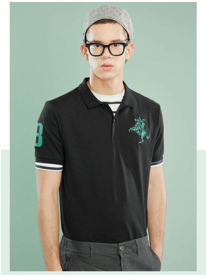 [2 PACKS] Giordano Men Polo Shirts Embroidered Polo T