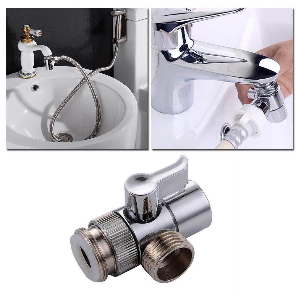 washbasin faucet spout three way automatic washing machine inlet pipe adapter water inlet valve one inlet two outlet