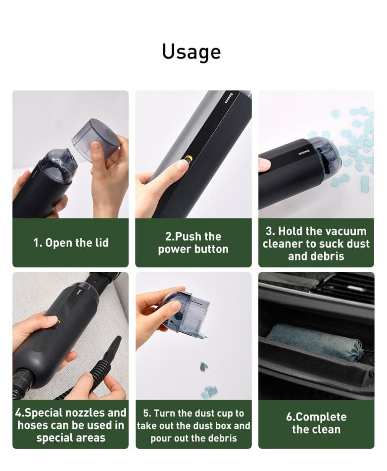 Baseus A2 Car Vacuum Cleaner 5000Pa For Car Home Office