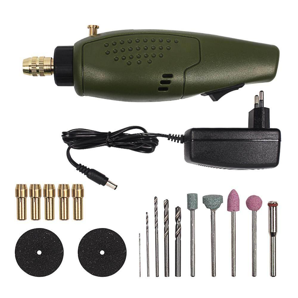 Mini electric drill accessories set 12V DC grinder tool for milling polishing engraving drilling(EU plug)