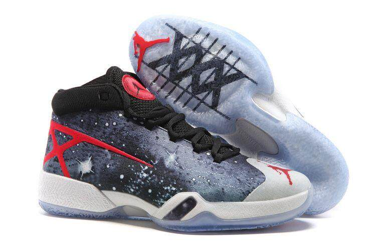 Udara Jordan 30 XXX JBC Galaksi Hitam-Grey-Merah Nike Udara Jordan 30-Internasional