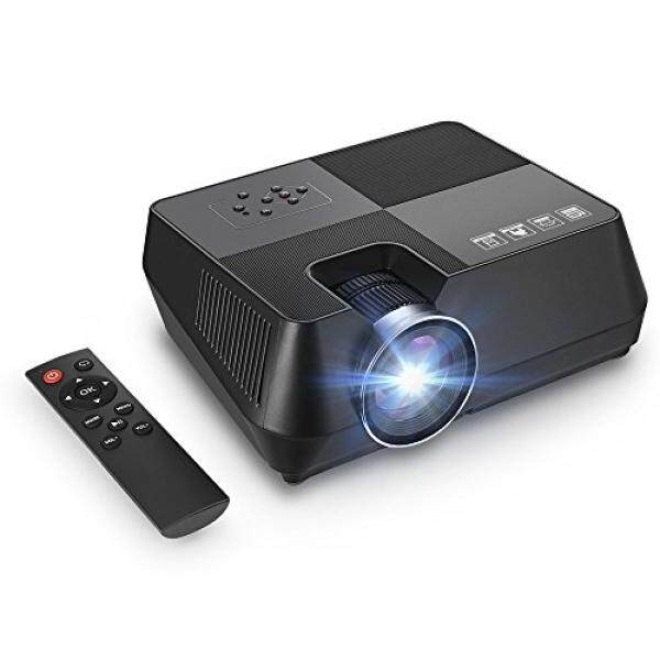 GBTIGER Video Projector Portable Led Home Theater Projector Mini Projector Up 170 inches Display Support Full HD 1080P HDMI USB VGA AV Connect iPhone Laptop Android Smartphone PS4 - intl
