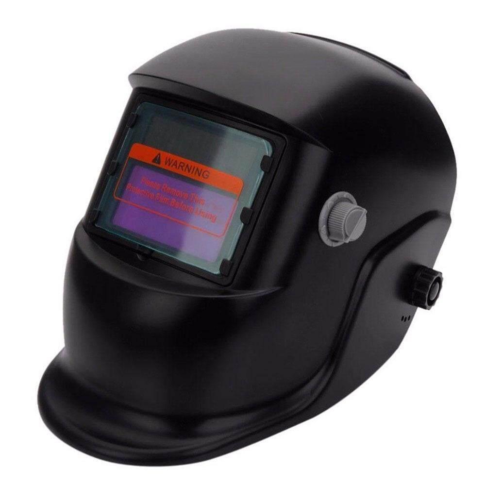 Masker Las Otomatis Gelap untuk Mesin Las Helm Las Wajah Masker Grinding TIG