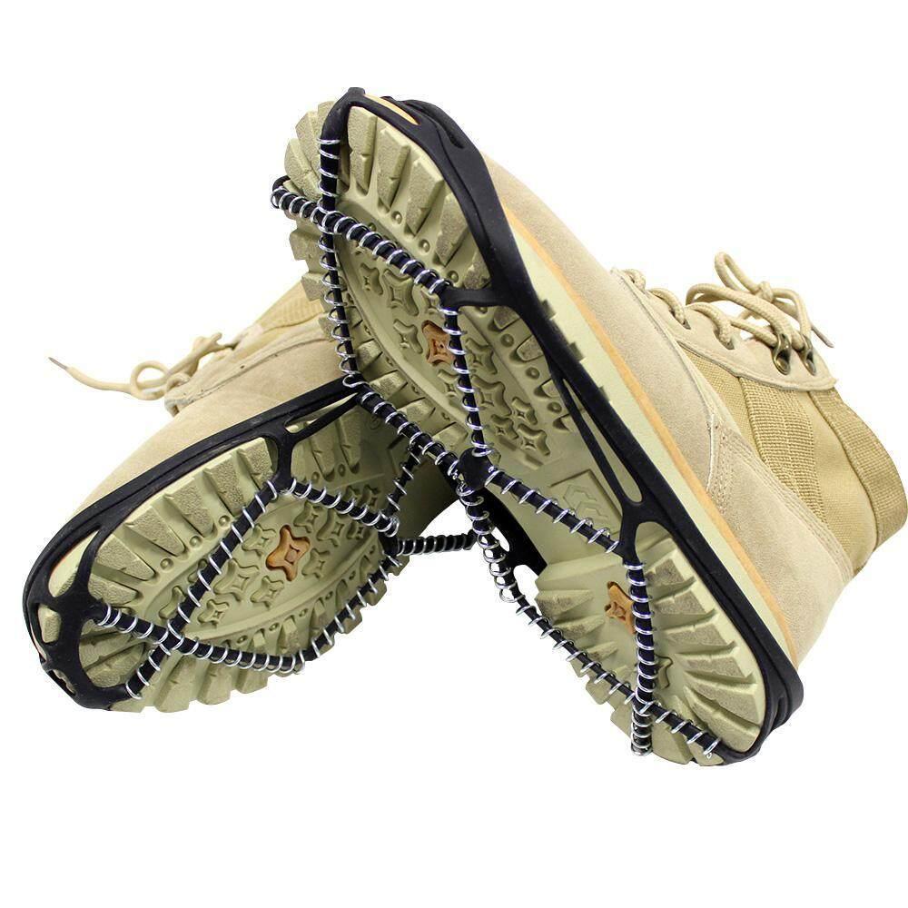 Goodgreat Es Cleat Salju Paku Crampon Anti Slip Lolita Sepatu Bergigi untuk Musim Dingin Jalan-jalan Pendakian Gunung, menempel Di SEPATU/Sepatu untuk Setiap Hari Safety Di Musim Dingin Luar Ruangan, Medan Licin