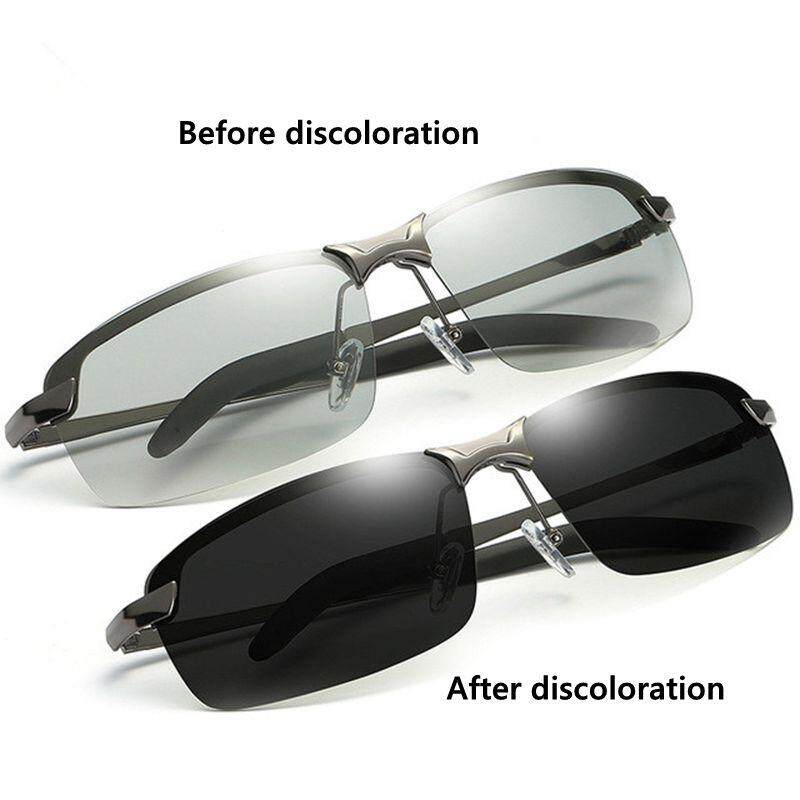 Natural Material HD Men's Polarized Photochromic Transition Lens Sunglasses Lens ZXY9584