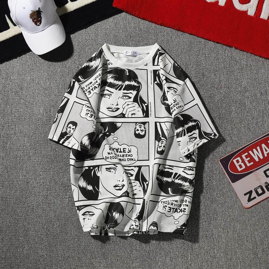 Musim Panas Versi Korea Pria Satu Set Pakaian Tampan Sosial Pria Lengan Pendek Baju Kaos Tren Membentuk Tubuh Celana Pendek Set Dua Potong