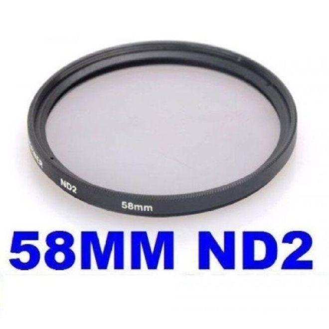 Neewer® 58 Mm Nd2 Neutral Kepadatan Penyaring untuk Canon EOS 700D 650D 600D 1100D 550D 500D 450D 400D 350D 100D/Rebel T5i T4i T3i T3 T2i T1i XSI Xti XT Sl1-Internasional