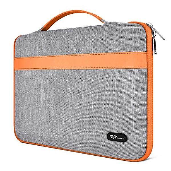SAVFY 11.6-Inch Laptop Sleeve Case Bag Notebook Carrying Case for Apple MacBook Air 11.6-inch New Macbook 12 Surface Pro 4 3 for 11 12 Lenovo Dell Toshiba HP ASUS Acer Chromebook Laptop, Orange - intl